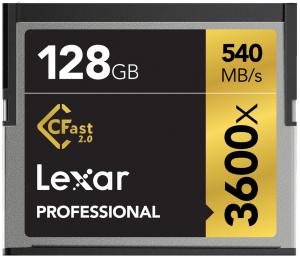 Lexar 128GB CFast Professional 3600X 540MB/s