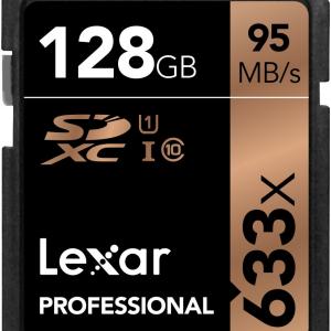 Lexar 128GB SD Professional 633X 95MB/s Class 10