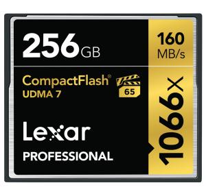 Lexar 256GB CF Professional 1066X 160MB/s UDMA 7