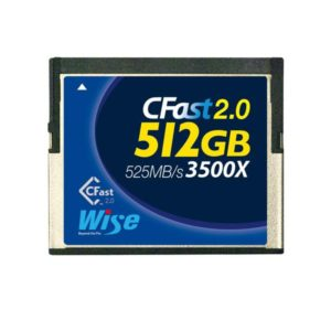 Wise CFast 2.0 Card 512GB (For BMD URSA / URSA Mini / Canon C300 / XC 10)