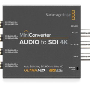 BlackMagic Mini Converters - Audio to SDI 4K