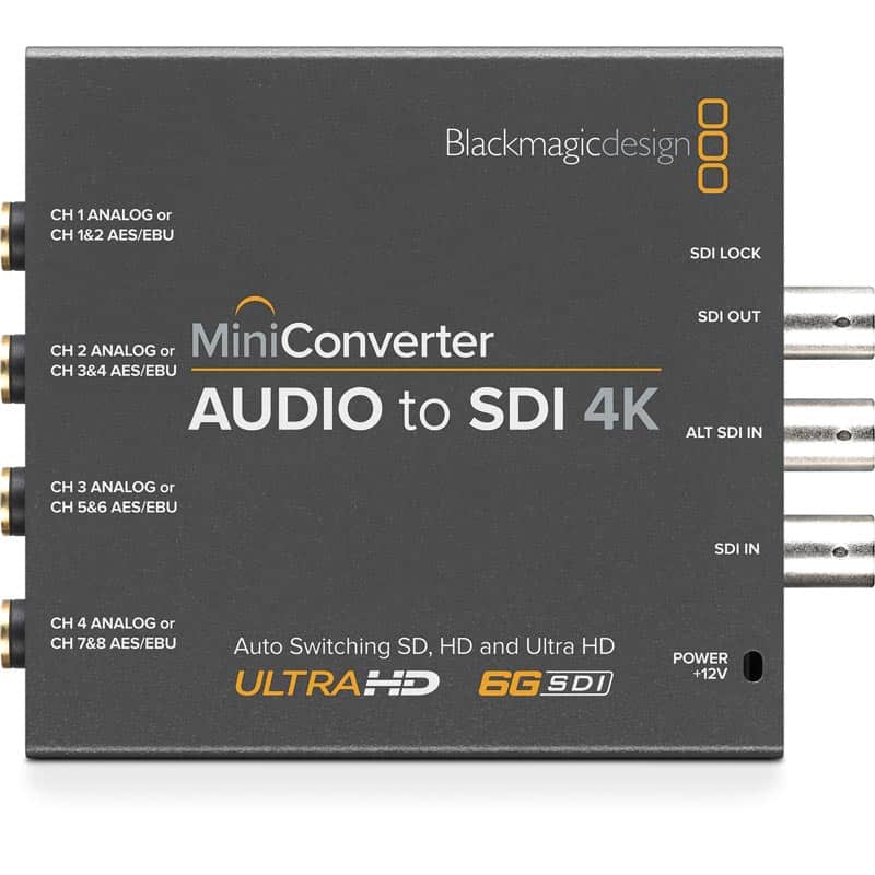BlackMagic Mini Converters - Audio to SDI 4K