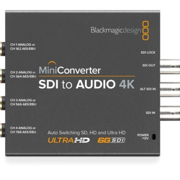 BlackMagic Mini Converters - SDI to Audio 4K